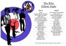 The Who, Tribute Night, Rising Sun Arts Centre